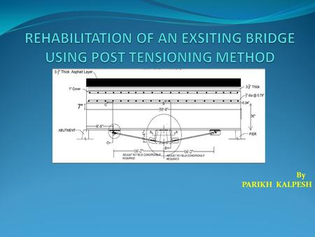 By PARIKH KALPESH. Overview Introduction Structural evaluation of the bridge deck, girders, abutment, and piers Recommended non destructive tests Short.