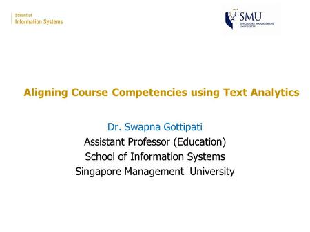 Aligning Course Competencies using Text Analytics