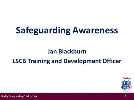 Safeguarding Awareness LSCB Training and Development Officer