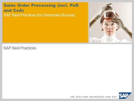 Sales Order Processing (incl