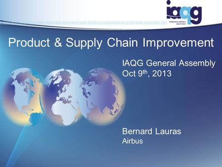 Product & Supply Chain Improvement