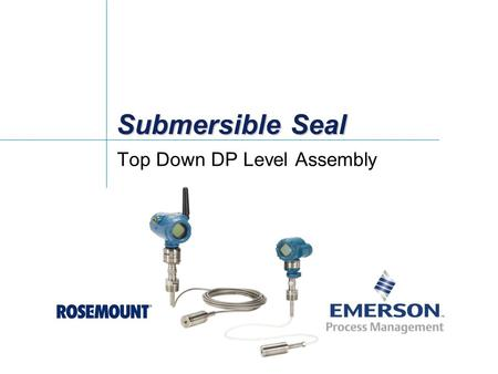 Submersible Seal Top Down DP Level Assembly. DP Level Solution for Top-Down Level Measurement Applications Challenge: Many tanks go un-instrumented in.