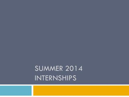 SUMMER 2014 INTERNSHIPS.  Info packet & required forms are on my website:  www.wou.edu/~robertsjl, then click on Internships link www.wou.edu/~robertsjl.