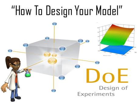 """How To Design Your Model"". DOE Software Design of Experiment www.statease.com This EASY TO USE software has all the major experimental designs (general."