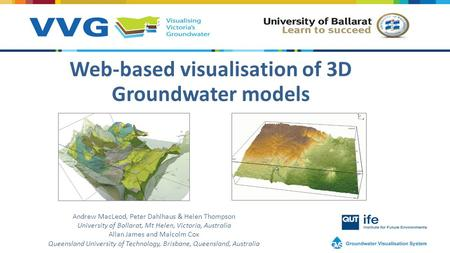Improving access to groundwater data using groundwaterml2 Web based 3d modeling