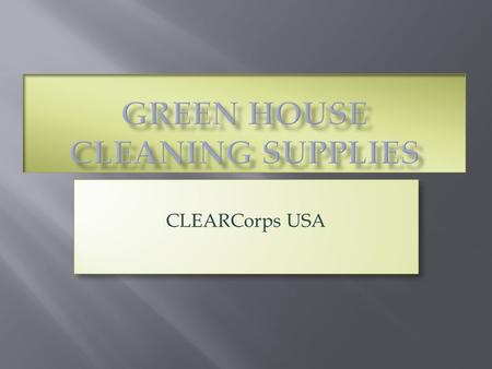 CLEARCorps USA. Hidden Harms in  Homes  Classrooms.