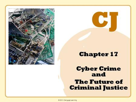 CJ © 2011 Cengage Learning Chapter 17 Cyber Crime and The Future of Criminal Justice.