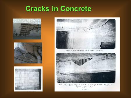 Cracks in Concrete. 2-Classifications 2-Classifications 3-Concrete removal, preparation 4-References Cracks in Concrete 1-lntroduction.