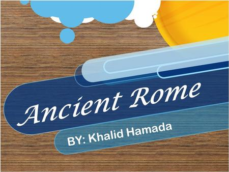 Ancient Rome BY: Khalid Hamada. Roman Religion (TEMPLES) wj Many of the most beautiful buildings were temples. Every god had his own temple. Temples were.