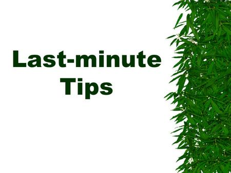Exam tips for 15 minute essay?