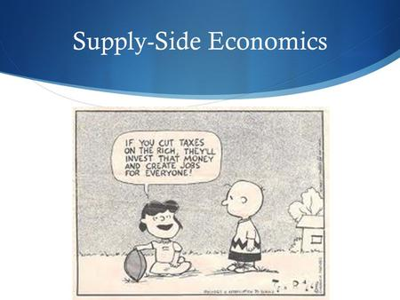Supply-Side Economics. Objectives of supply-side policies  These policies focus on shifting LRAS to the right in order to achieve long-term economic.
