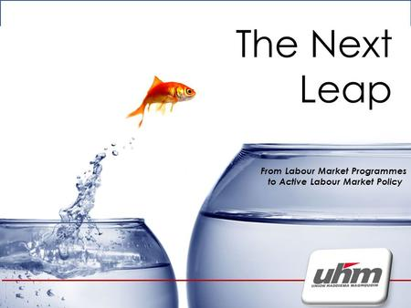 The Next leap The Next Leap From Labour Market Programmes to Active Labour Market Policy.