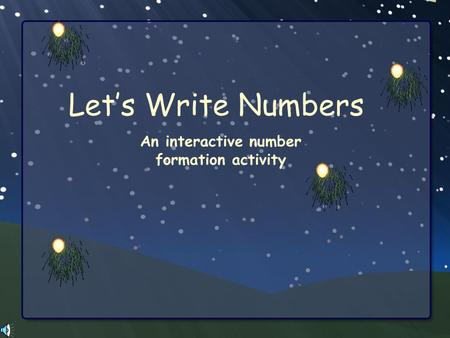 An interactive number formation activity