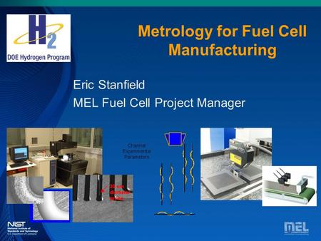 Metrology for Fuel Cell Manufacturing Eric Stanfield MEL Fuel Cell Project Manager.