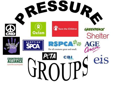 What are pressure groups? A pressure group is made up of like minded people who have come together because they feel strongly about an issue. WE ALL LOVE.