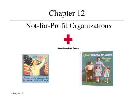 Chapter 121 Not-for-Profit Organizations. Chapter 122 Learning Objectives  Identify the authoritative standards-setting bodies for establishing GAAP.