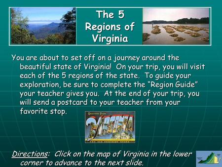 The 5 Regions of Virginia