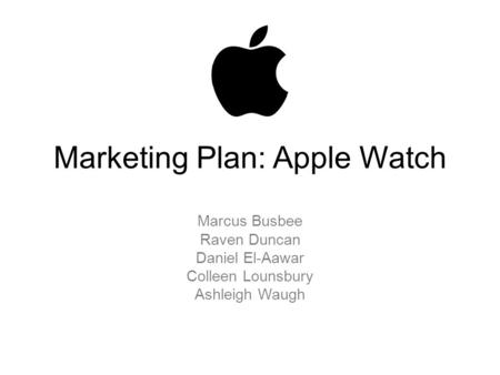 Marketing Plan: Apple Watch