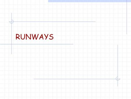 RUNWAYS. Runway Length Requirements  Governmental regulations  Airport location  Critical aircraft  Sources: