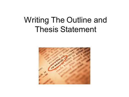 thesis discussion outline Outline and thesis generators are you struggling to write a thesis for your paper confused about how to construct an effective outline.