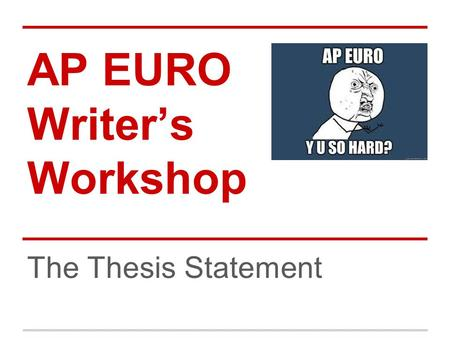 response to essay ap euro like