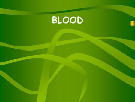 BLOOD. Blood is made up of 4 components. Red Blood Cell White Blood Cell Platelets Plasma.