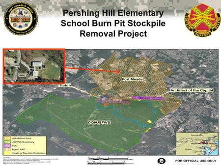 Pershing Hill Elementary School Burn Pit Stockpile Removal Project 1.