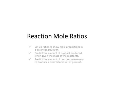chlorine and mole ratios Chlorine and mole ratios - chlorine essay example problem #1: oxygen gas can be produced by decomposing potassium chlorate.