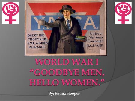 By: Emma Hooper. Supporting The War Effort How did women help the war?  They sent relief supplies to suffering Europeans.  Some women's groups sent.