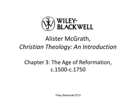 The Reformation and its Impact