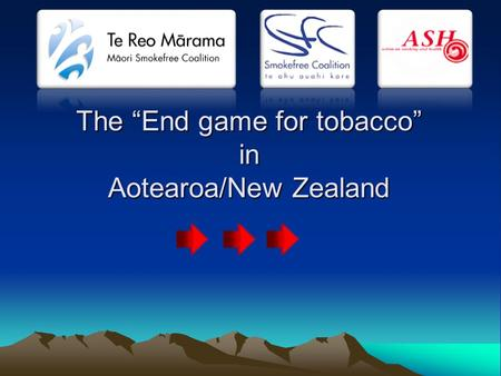 "The ""End game for tobacco"" in Aotearoa/New Zealand."