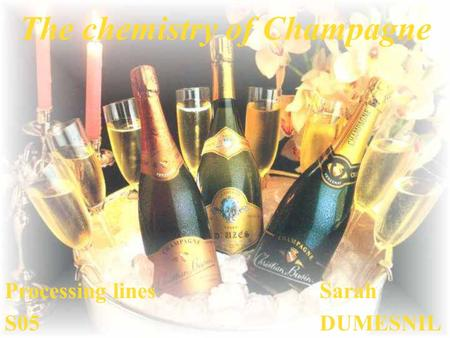 The chemistry of Champagne Processing linesSarah S05DUMESNIL.