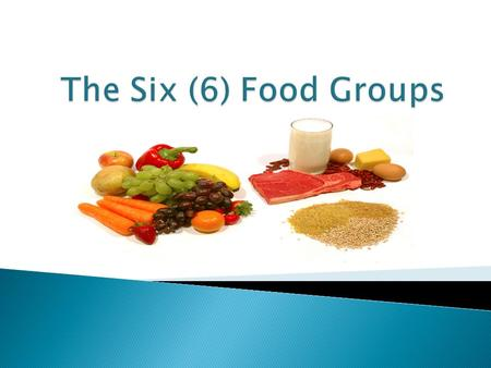 Now let us view a video on the Six Food Groups of the Caribbeanvideo.