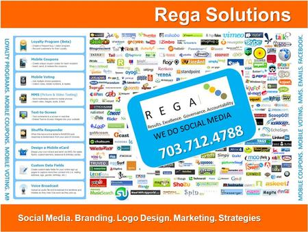 Rega Solutions Social Media. Branding. Logo Design. Marketing. Strategies.