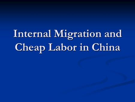 Internal Migration and Cheap Labor in China. The Etch-A-Sketch The Etch-A-Sketch toy was first designed and manufactured in 1960 in Bryan, Ohio by the.