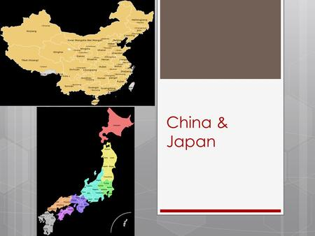 China & Japan. Background  China had been resisting outside influence from the West- didn't want the negative influences of the worldly West…  Didn't.
