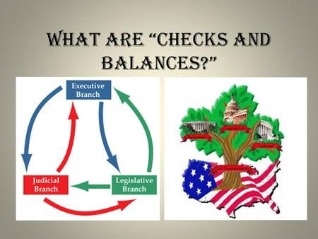 "What are ""checks and balances?"". Who Works There? Executive Branch – The President – Presidential Cabinet Vice President of the United States Department."