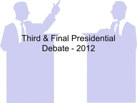 Third & Final Presidential Debate - 2012. The Rise of China What is Obama's position? What is Romney's position? Does China cheat with trade rules? Is.