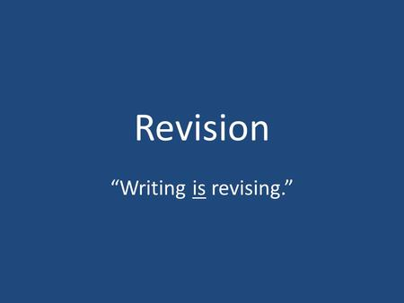 "Revision ""Writing is revising."". Comments from Frances Fitzgerald's editor about a draft of her book Fire in the Lake ""The present material is pre first."