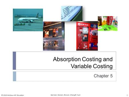 7-1 Explain how variable costing differs from absorption costing and compute unit product costs under each method. Learning objective number 1 is to explain.