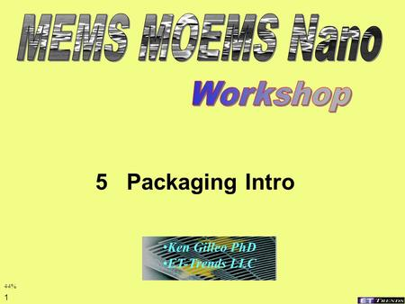 1 5 Packaging Intro Ken Gilleo PhD ET-Trends LLC 44%