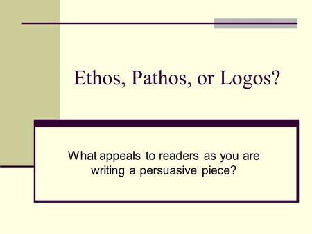 how to write a persuasive piece