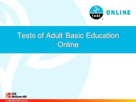 Tests of Adult Basic Education Online