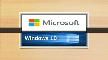 Windows 10. The New Microsoft Operating System to be released July 29 th. It's not just a PC operating system, it's a lot more, it includes phones,