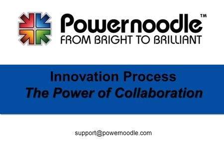 The Power of Collaboration Innovation Process The Power of Collaboration.