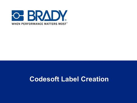 Codesoft Label Creation. Codesoft Edition Overview Editions of Codesoft include: Codesoft Print Only – open and print files created in other versions.