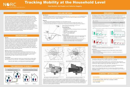 This work examines the methodological challenges associated with tracking mobility at the household level. We describe a retroactive approach for linking.