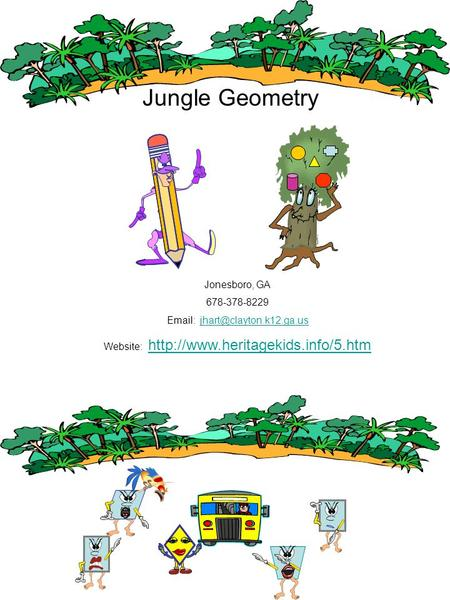 Jungle Geometry Jonesboro, GA 678-378-8229   Website: