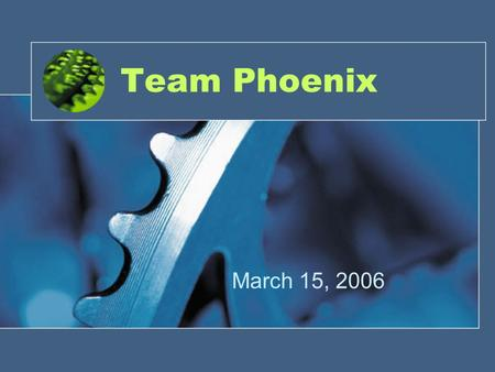 Team Phoenix March 15, 2006. Project Goal Our team will develop an air vehicle that will not only navigate a course autonomously while providing real.