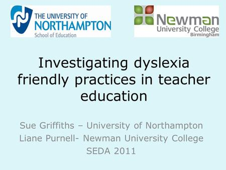 Investigating dyslexia friendly practices in teacher education